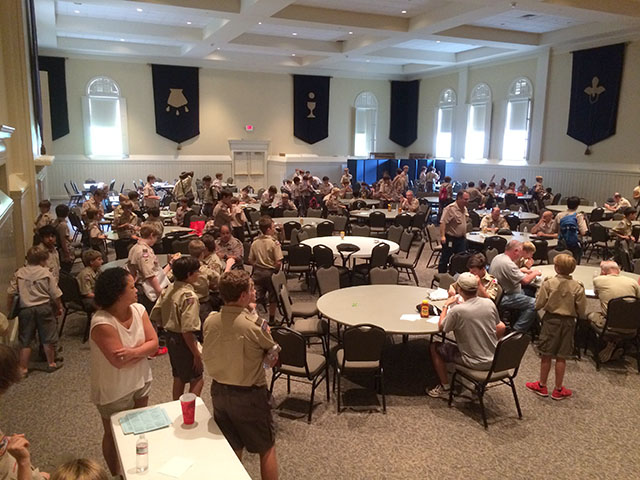 Lunch time between sessions.