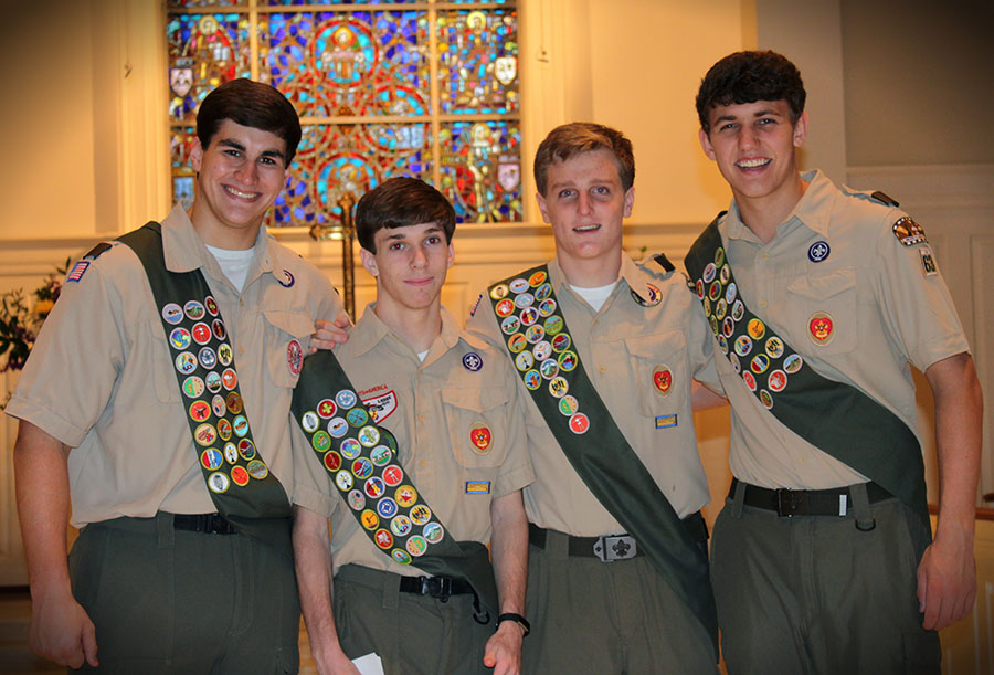 Mountain Brook Troop 63 Honors Eagle Scouts